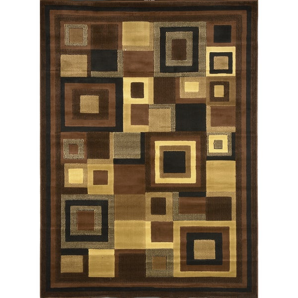 Home Dynamix Catalina Collection Contemporary Brown Tone Area Rug (7'10 X 10'2)