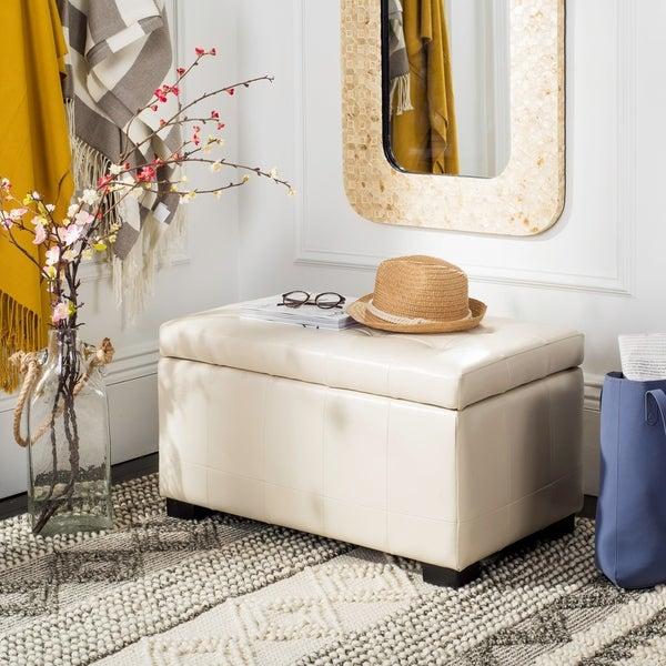 Shop Safavieh Manhattan Off-white Small Storage Bench
