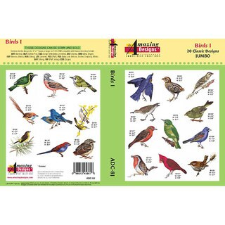 Amazing Designs Birds I Design Collection - multi - 5 x 7
