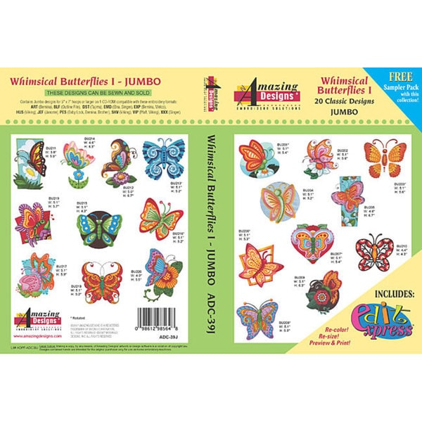 Amazing Designs Whimsical Butterflies Design Collection