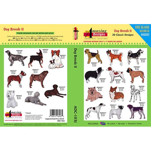 Amazing Designs Dog Breeds II Design Collection