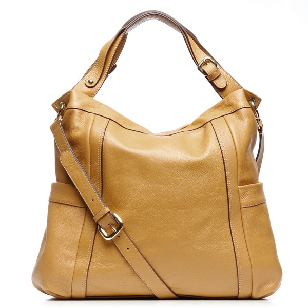 Presa 'Kennington' Oversized Leather Hobo Bag with Shoulder Strap