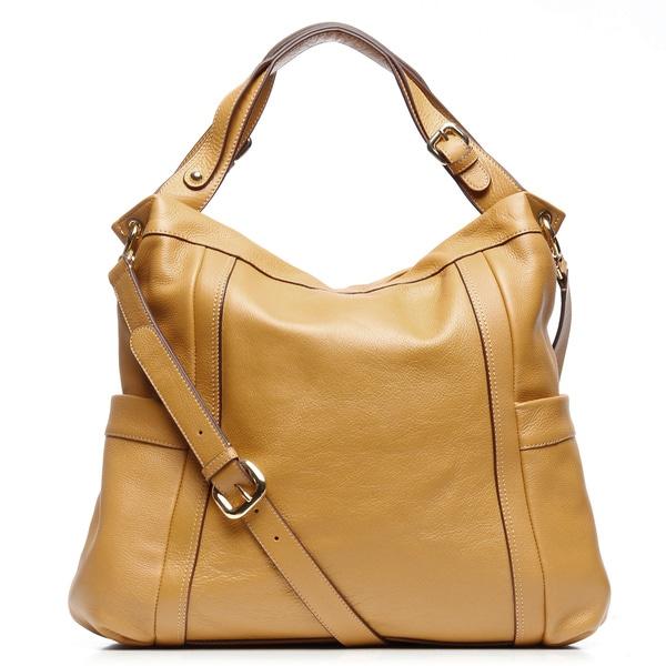 Presa 'Kennington' Oversized Leather Hobo Bag with Shoulder Strap