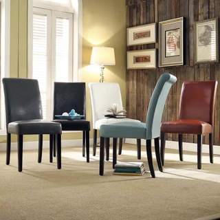 Link to Dorian Faux Leather Upholstered Dining Chair (Set of 2) by iNSPIRE Q Bold Similar Items in Dining Room & Bar Furniture