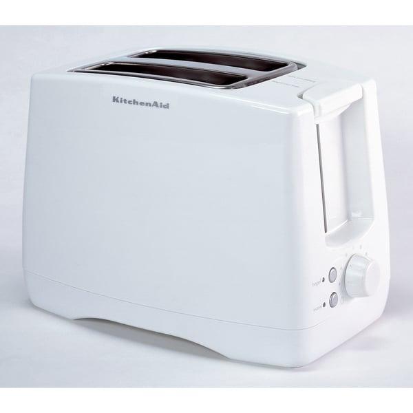 Shop Kitchenaid Ktt340wh White Extra Wide Two Slot Toaster