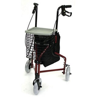 Mabis 3-wheel Burgundy Aluminum Rollators (Pack of 2)