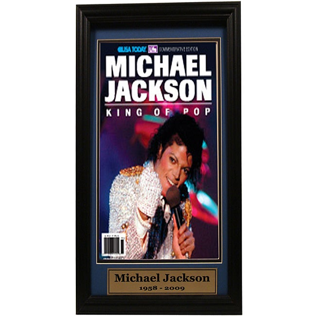 USA Today Commemorative 'King Of Pop' 12x18 Custom-framed Print - Thumbnail 0