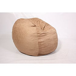 FufSack Large 5-foot Camel Microsuede Lounge Chair