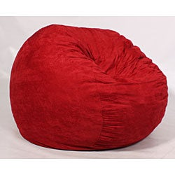 FufSack Large 5-foot Red Microseude Lounge Chair