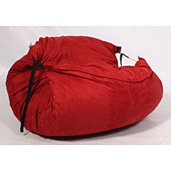Shop Fufsack Sofa Sleeper Red Microsuede Lounge Chair