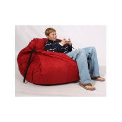 FufSack Sofa Sleeper Red Microsuede Lounge Chair