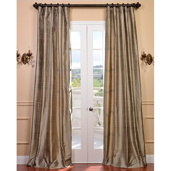 Exclusive Fabrics Signature Cashmere Textured Silk 84-inch Curtain Panel