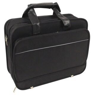 Black Ballistic Nylon Long Wear Laptop Briefcase