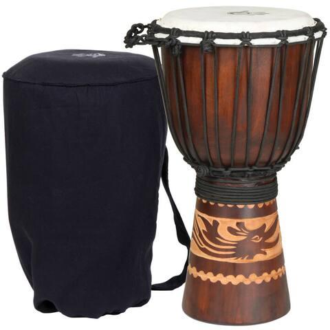 Handmade Kalimantan Djembe Drum with Tote Bag (Indonesia)