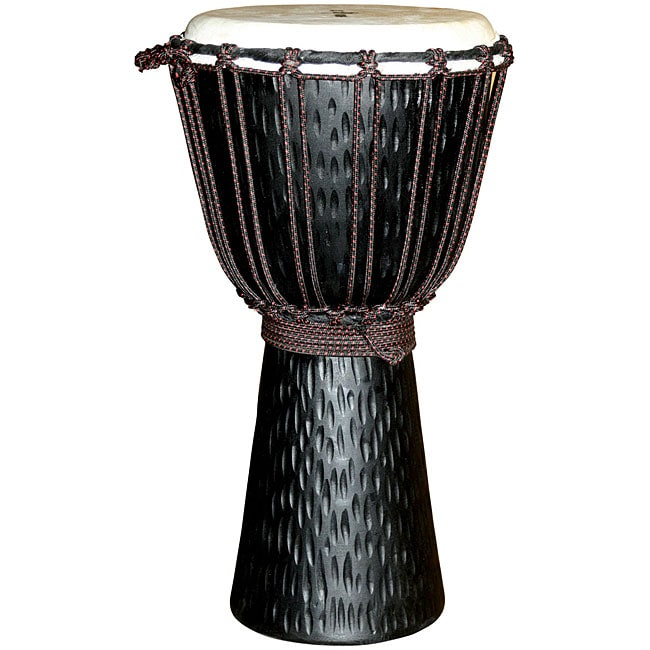 World Rhythm Mahogany-wood Djembe with Goatskin Drumheads (Indonesia)