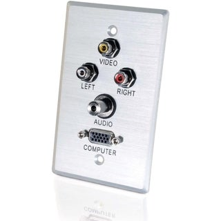 C2G Audio/Video Faceplate