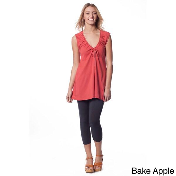 AtoZ Women's Deep V-Neck Cotton Top