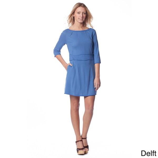 AtoZ Women's Pleat-front Mini Dress
