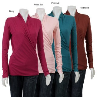 AtoZ Women's Wrap V-neck Top