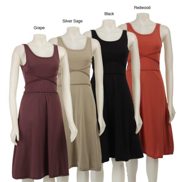 AtoZ Women's Rolled Bodice Dress