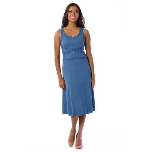 AtoZ Women's Cross Bodice Dress