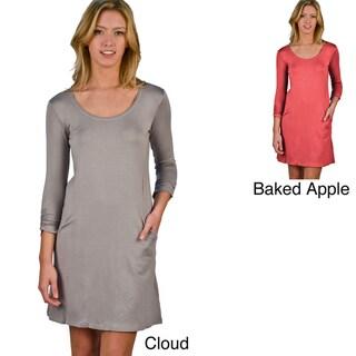 AtoZ Women's Scoop-neck Mini Dress