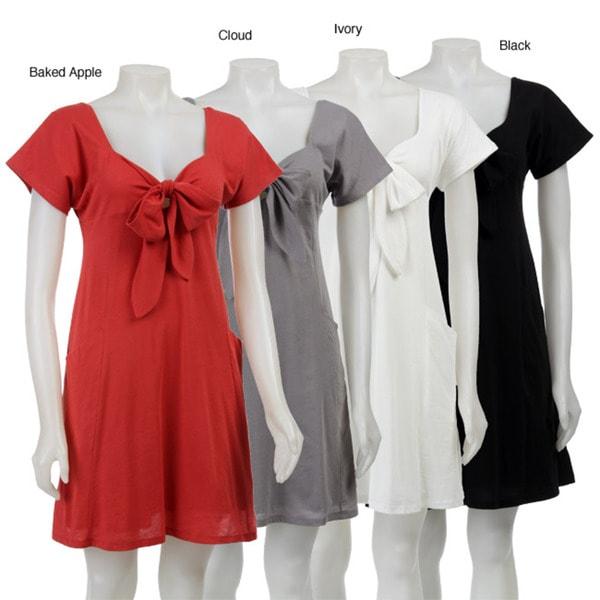 AtoZ Women's Bow Front Dress