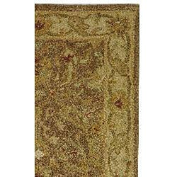 Safavieh Handmade Antiquities Treasure Brown/ Gold Wool Runner (2'3 x 16') - Thumbnail 1