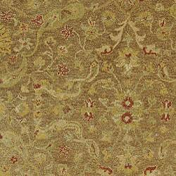Safavieh Handmade Antiquities Treasure Brown/ Gold Wool Runner (2'3 x 16') - Thumbnail 2