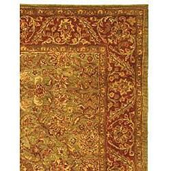 Safavieh Handmade Golden Jaipur Green/ Rust Wool Rug (12' x 18') - Thumbnail 1