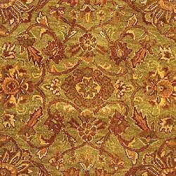 Safavieh Handmade Golden Jaipur Green/ Rust Wool Rug (12' x 18') - Thumbnail 2