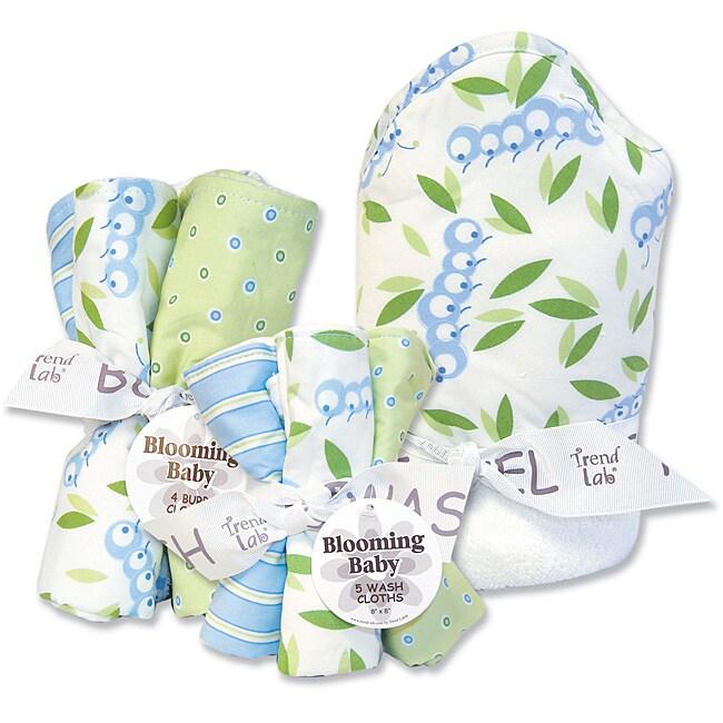 Trend Lab Blooming Baby Caterpillar 10-piece Bath Set