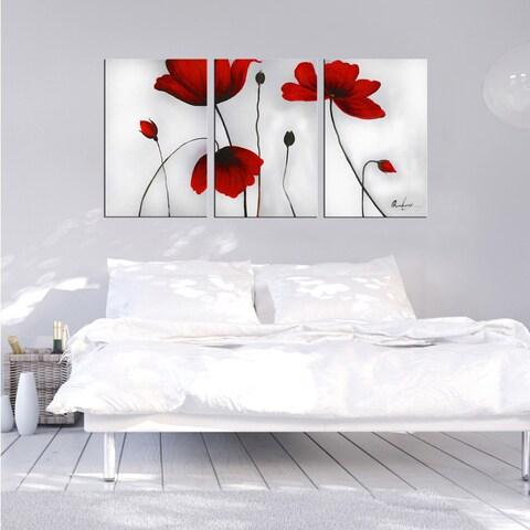 'Flowers' Hand-painted Oil on Canvas Art Set - multi