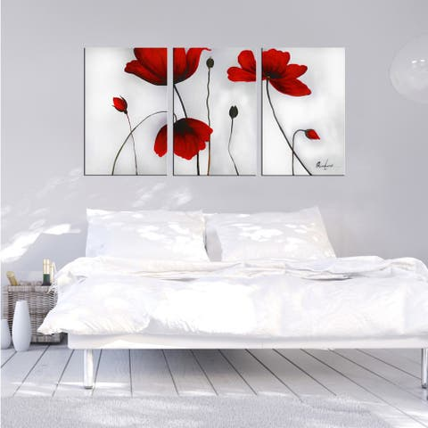 'Flowers' Hand-painted Oil on Canvas Art Set - multi