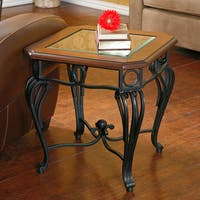 Copper Grove Swinley Glass-top End Table