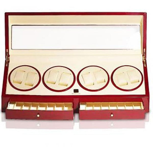 Cherrywood 8-watch Winder/ Jewelry Case