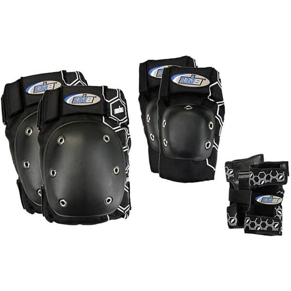 MBS Core Tri-pack Men's Black Pads (Medium)
