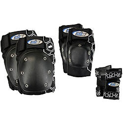 MBS Core Tri-pack Men's Black Pads (Medium)