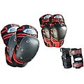 MBS Pro Tri-pack Large Red-and-black Cushioned Protective Pads