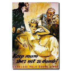 'Keep Mum She's Not So Dumb' Gallery-wrapped Canvas Art - Thumbnail 1