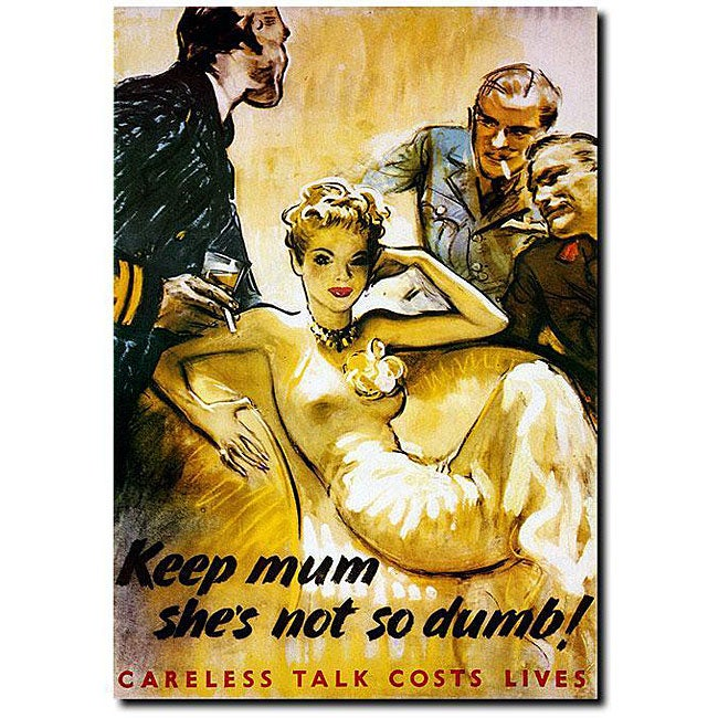 'Keep Mum She's Not So Dumb' Gallery-wrapped Canvas Art