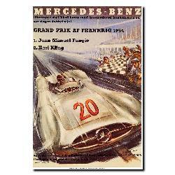 H. Liskars 'Mercedes-Benz' Canvas Art - Thumbnail 1
