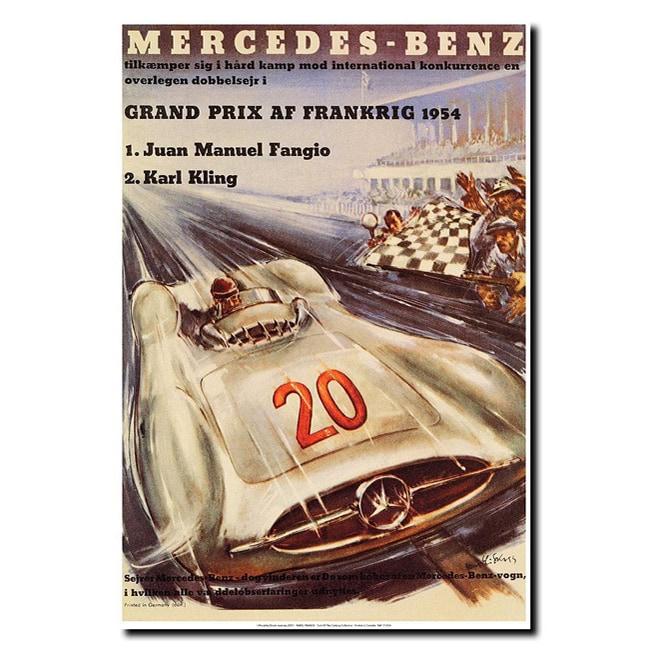 H. Liskars 'Mercedes-Benz' Canvas Art