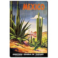 'Mexico Cacti' Canvas Art - Green