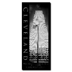 Preston 'Cleveland' Contemporary Canvas Art - Thumbnail 1