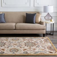 Hand-tufted Coliseum Beige Wool Area Rug - 4' x 6'