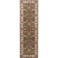 Hand-tufted Coliseum Wool Runner Area Rug (2'6 x 8') - 2'6 x 8'