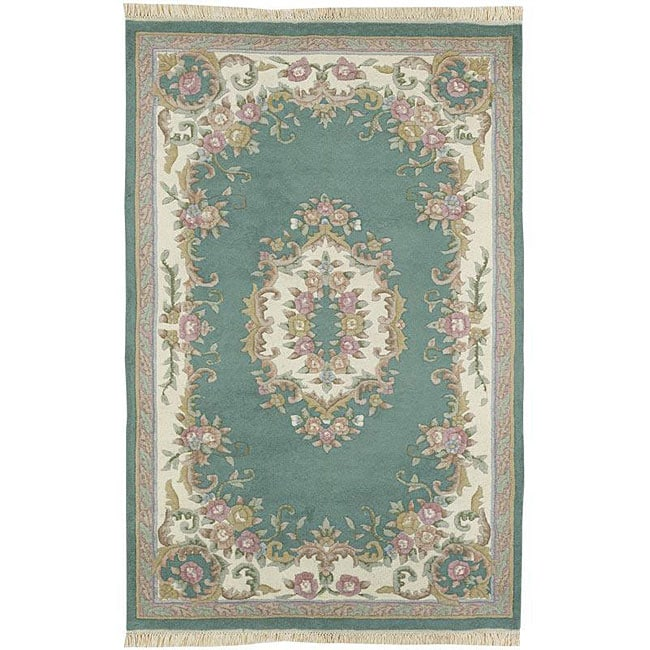 Hand-knotted Aubusson Wool Rug (2'6 x 12')