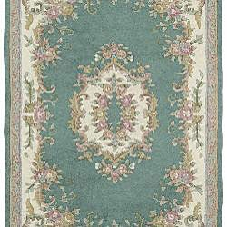 Hand-knotted Aubusson Wool Rug (2'6 x 12') - Thumbnail 1