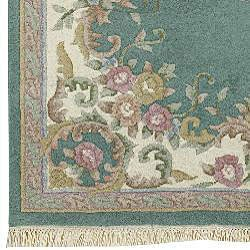 Hand-knotted Aubusson Wool Rug (2'6 x 12') - Thumbnail 2